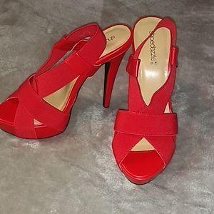 New Shoedazzle red heels